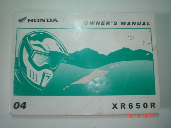 Manual Moto Honda Xr 650r 2003 2004 2005 2006 2007 Original