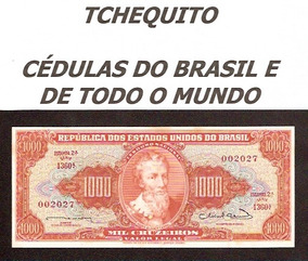 Brasil 1000 Cruzeiros C106 Fe Cédula Leves Manchas Tchequito