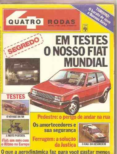 Revista Quatro Rodas - Em Testes O Nosso Fiat Mundial