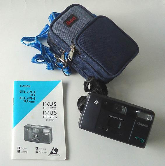 Câmera Aps Canon Elph 10 Com Manual E Bolsa