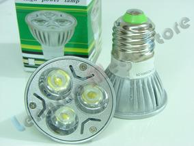 Spot E27 Com 3 Super Leds - 3 Watts - Branco Frio - Bivolt