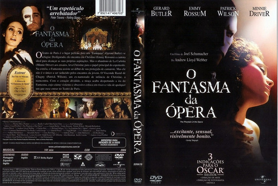 Dvd O Fantasma Da Opera Com Gerard Butler E Minnie Driver