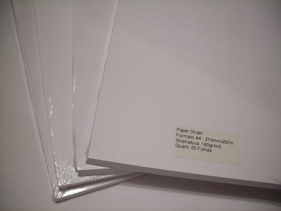 Papel Off-set, Formato A4, 180g/m2 - 500 Folhas