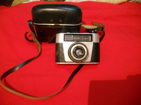 Antiga Camera Marca Dominant Com Capa Em Couro