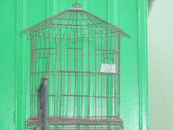 Gaiola Antiga Decoração De Ferro Papagaio