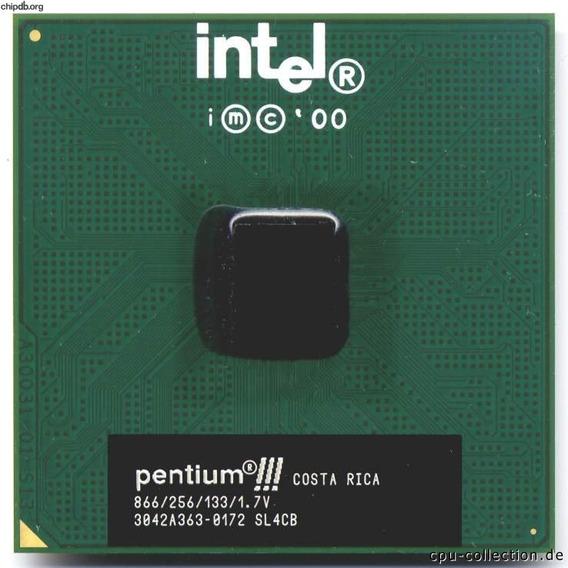 Processador Intel Pentium Iii 866 Mhz 133 Mhz Fsb Socket 370