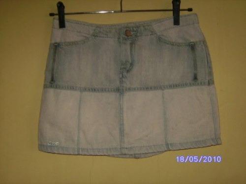 Sa010 - Brecho Saia Jeans Da Vizzon Manequim 34