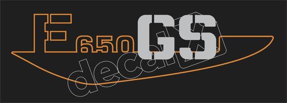Emblema Adesivo Bmw F650gs Prata Par Bwf65001