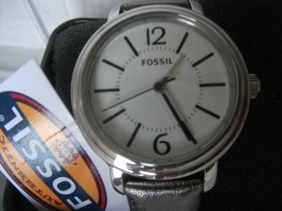 Relogio Fossil Es2706 Frete Gratis Pulseira Couro Autentico