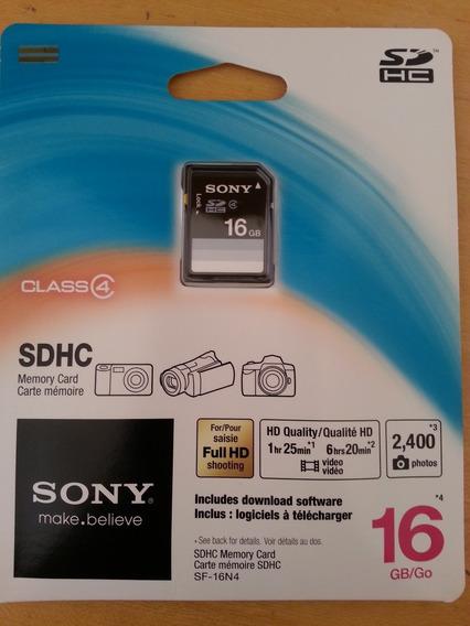Cartão De Memoria 16gb Sdhc Sony Embalagem Lacrada (blister)