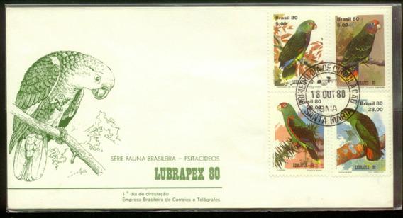 Fdc 208 1ºdia - Papagaios - 1980