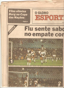 Jornal Globo Esportivo Vasco 1 X 1 Fluminense 1980 Marcado
