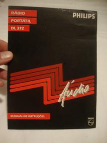 Folheto Propaganda Antigo Rádio Philips Manual Instruçao