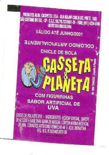Embalagem Figurinha Casseta E Planeta Sabor Uva