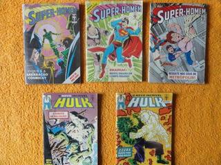 Super Homem - O Novo Incrível Hulk - Lote Gibi - Hq