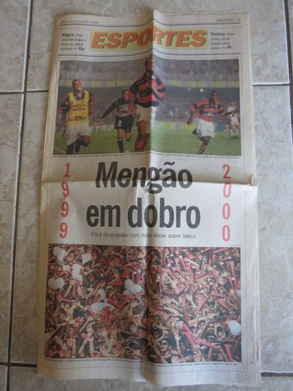 Jornal O Globo Caderno Esportes 18/06/2000 Flamengo Campeão