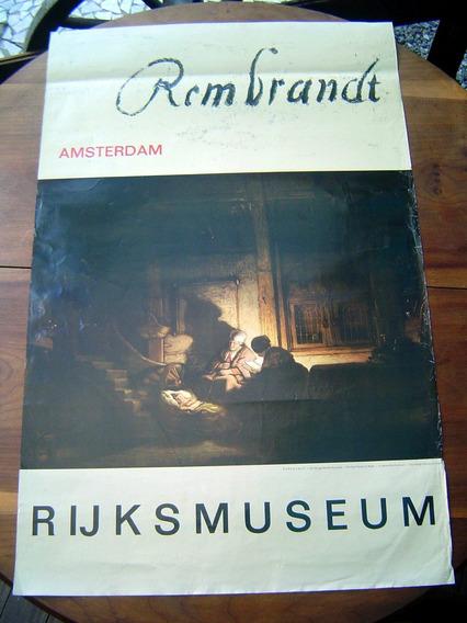 Cartaz Antigo Rijksmuseum Rembrandt Amsterdam Original Impor