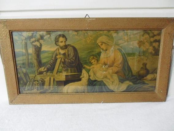Quadro Religioso Antigo Nossa Senhora E São José