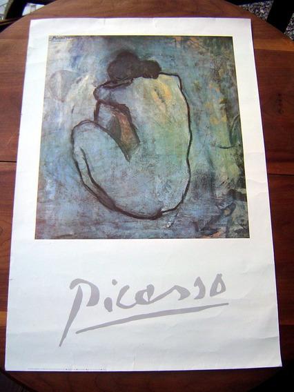 Cartaz Pôster Antigo Reprodução Picasso Blue Model Original
