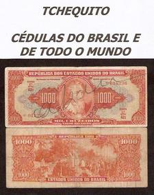 Brasil 1000 Cruzeiros C104 Mbc Cédula Autografada Tchequito