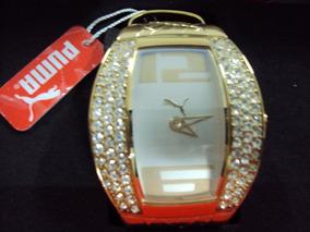 Relógio Puma Analogico Vitality Dourado Pu101172003