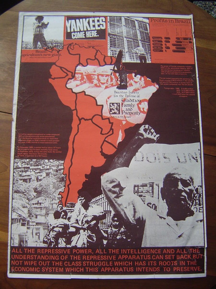 Cartaz Antigo Folheto Da Tfp Em Inglês / Yankees Come Here