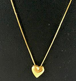 Gargantilha Com Pingente Coração Ouro 18k