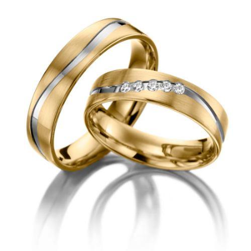 Par De Alianças De Ouro 18k De Noivado + Diamantes Al67vj