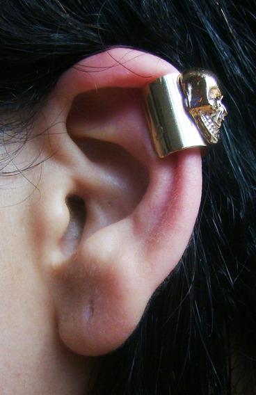 Ear Clip Cuff Caveira, Brinco De Encaixe, Bracelete, Pressão
