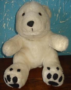 Urso Polar Pelúcia Coleção Mamíferos Parmalat (g06)