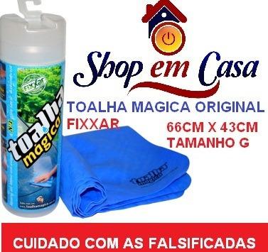Caixa C/ 50 Unidades Toalha Magica Fixxar Original 66x43cm