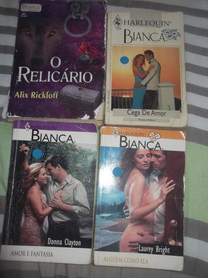 Lote 6: Harlequin Books - 4 Livros - Série Bianca