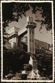 Cartão Postal Antigo Salvador Bahia Elevador Lacerda 1955