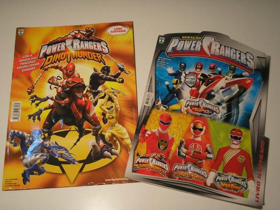 Dois Álbuns De Figurinhas Do Power Rangers