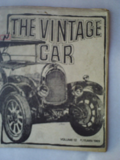 Revista De Carro Antigo The Vintage Car 1969.
