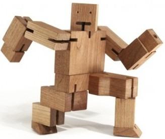 Robo-cube - Brinquedo Madeira (pacote Com 10 (dez) Unidades)