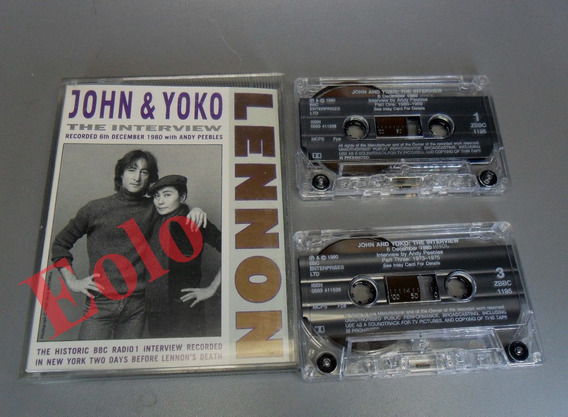 John Lennon - Última Entrevista Bbc Londres- 2 Cassetes Orig