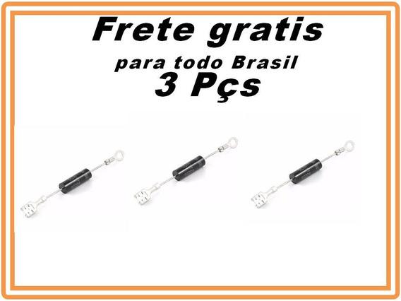 Diodo De Alta Tensão Para Microondas Original Kit 3 Peças