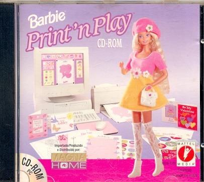 Cd Rom Barbie Print In Play