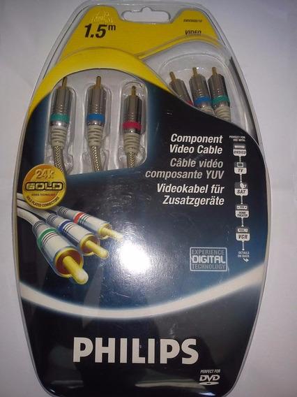 Philips Cabo Vídeo Componente Swv3505 1,5 M 2 Unidades