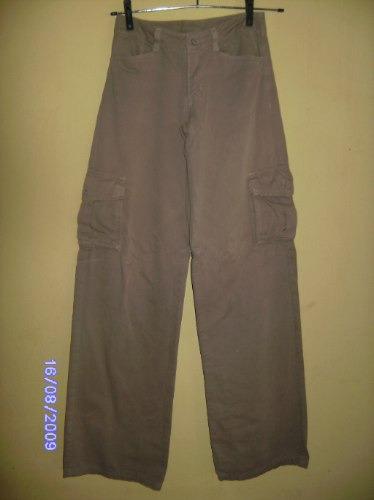 Ca034 - Brecho Calça Jeans Bege Manequim P
