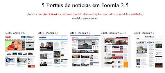 Portal De Noticias Em Joomla 2.5 - Pacote Com 5 Templates