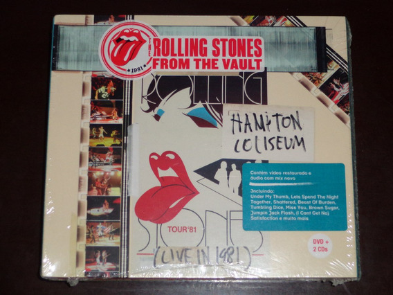 2cds+dvd Rolling Stones From The Vault Hampton Coliseum 1981