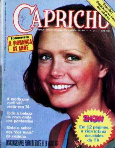 Capricho Nº 344 - Fotonovela - Caderno Show - 1974