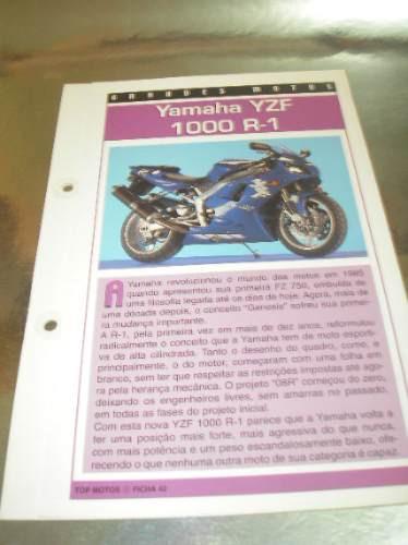 ( L - 430 ) Folder Motocicleta - Yamaha Yzf 1000 R-1