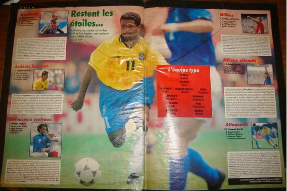 Revista France Football Romario Brasil 1994