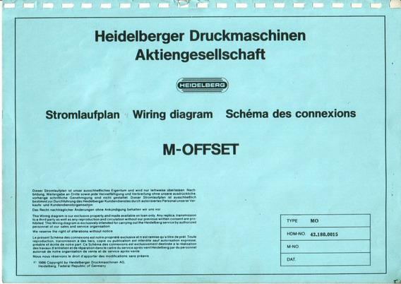 Esquema Elétrico Heidelberg Mo 43.180.0015