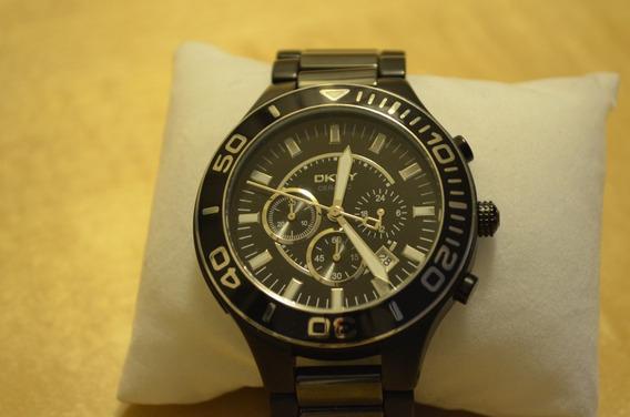 Reloj Dkny Para Caballero Ceramica Negra Ny1490