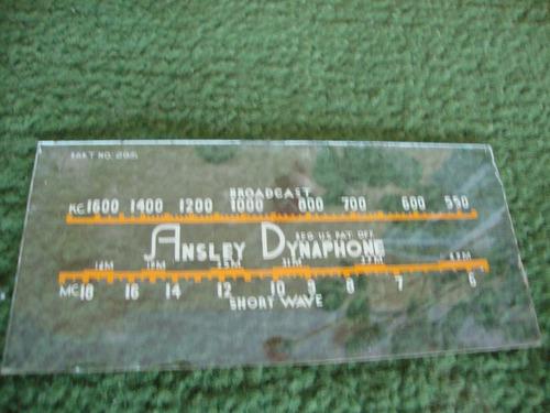 Dial De Rádio Antigo Marca Ansley Dynaphone