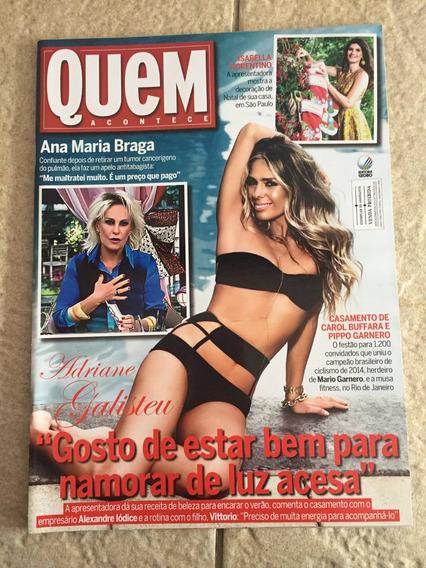 Revista Quem Adriane Galisteu Isis Valverde Humberto Martins